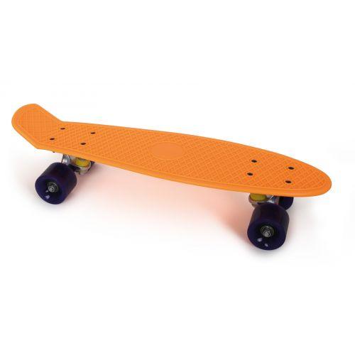 Skateboard, color naranja neón