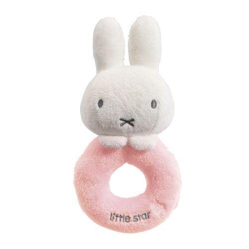Sonajero Miffy Rosa - 17 cm