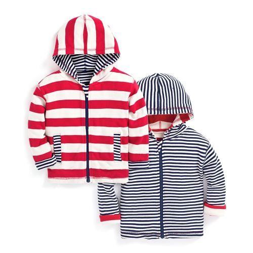 Sudadera Reversible Bebé y Niño Roja y Azul