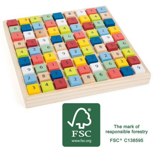 Sudoku colorido de madera - A partir de 6 años