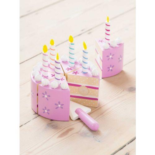 Tarta de Cumpleaños con velas, Juguete de madera