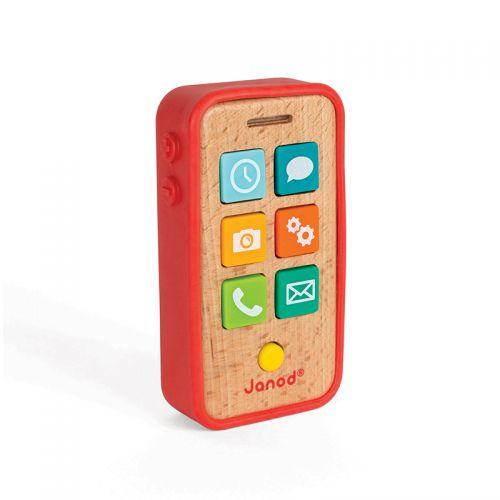 Teléfono Sonoro Janod, Juguete de madera - a partir de 18 meses