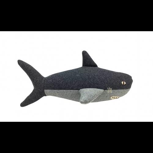 Tiburón Ben Carapau - Hecho a mano - 31 x 14 cm