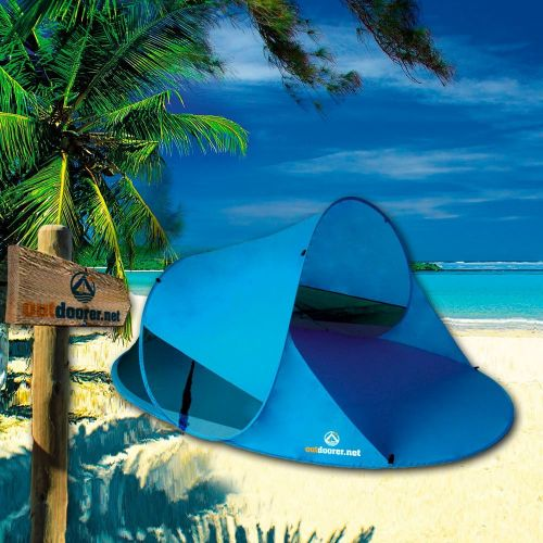 Tienda de Playa Familiar con Protector UPF 60 + y Red Anti-Mosquitos