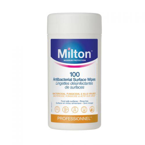 Toallitas Antibacterianas para Superficies Milton - 100 Unidades