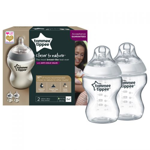Biberón 260 ml Tommee Tippee Closer to Nature - 2 unidades