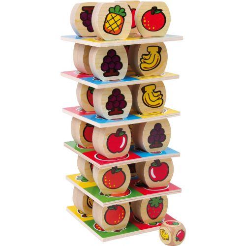 Torre de Frutas - Juguete de Madera