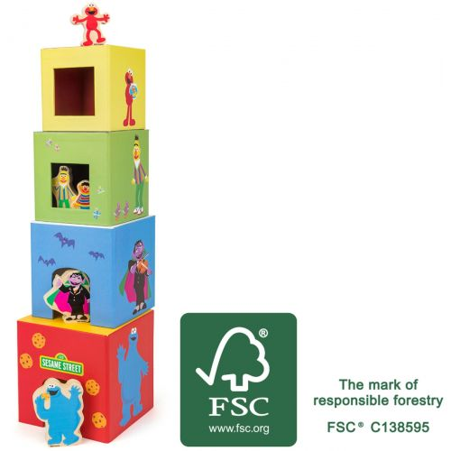 Torre para apilar con figuras Barrio Sésamo