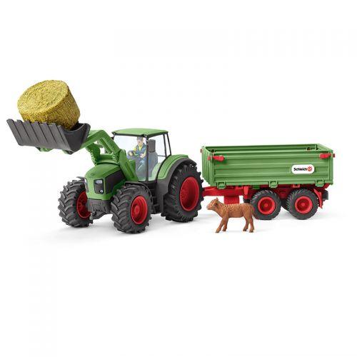 Tractor con Remolque Schleich