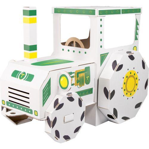 Tractor de juegos de cartón