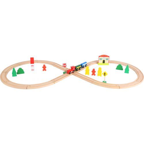 Tren de madera con estación y forma de Ocho - Legler