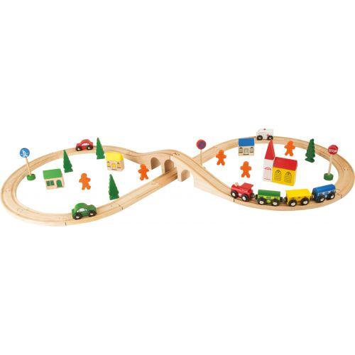 Tren de madera con forma de Ocho - Legler