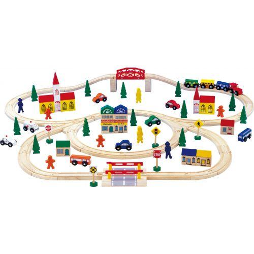 Tren de madera de Juguete - Legler - 100 piezas