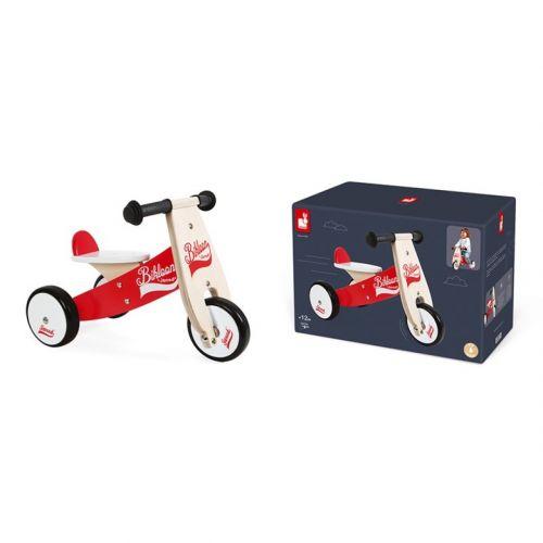Pequeño triciclo de madera sin pedales Bikloon , Janod
