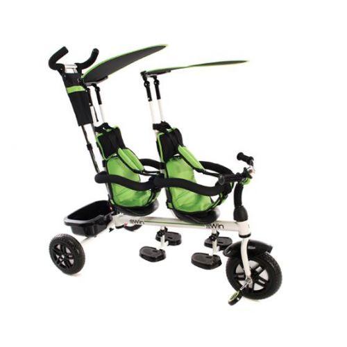 Triciclo Gemelar 2 Win - Kikkaboo verde