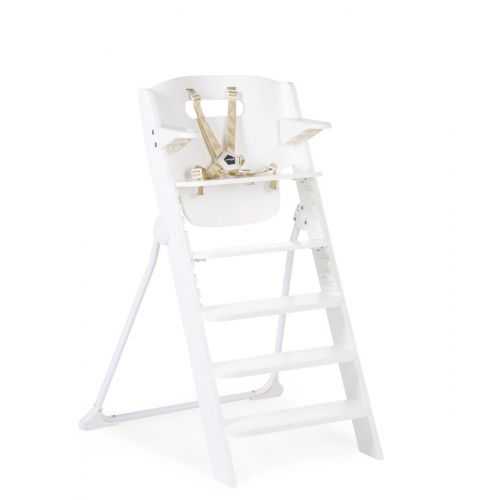Trona de madera 4 en 1 Kitgrow color Blanco , Childhome , hasta 85 kilos de peso