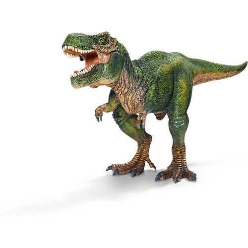 Figura dinosaurio Tiranoraurio Rex, Mandíbula inferior articulada, Color Verde, 14 cm - Schleich