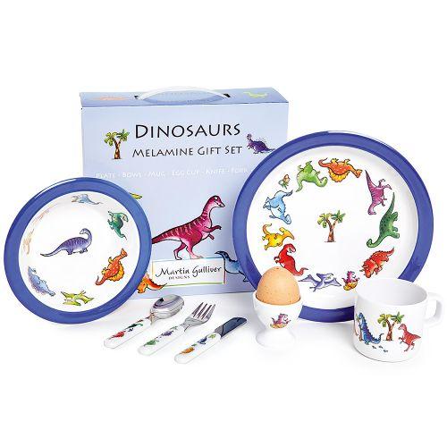 Vajilla Infantil de Melamina Dinosaurios