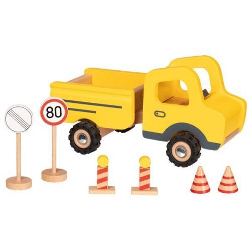 Vehículo para la construcción con señales de tráfico , Goki
