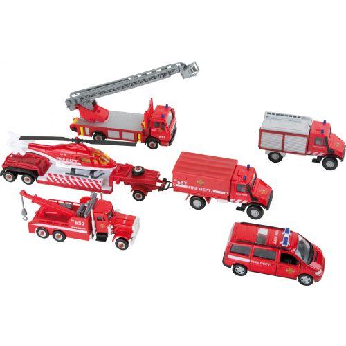 Vehículos en Miniatura Bomberos - 8 piezas