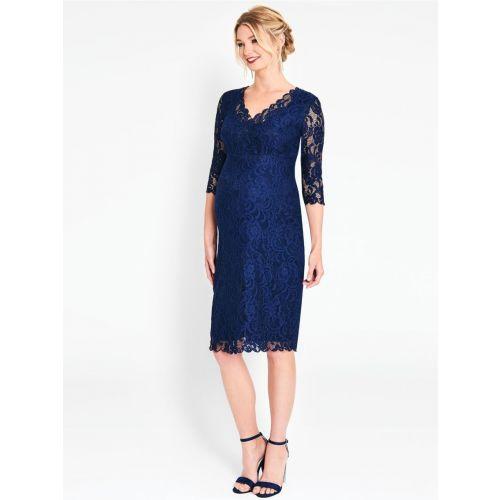 Vestido de fiesta Premamá Azul de Encaje