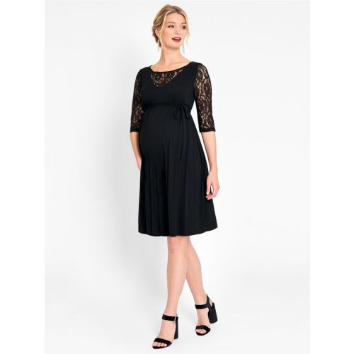 Vestido premamá de fiesta Negro con Encaje