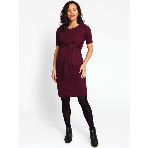 Vestido Premamá y Lactancia Color Vino Tinto