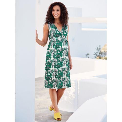 Vestido Premamá Verde Estampado Palmeras