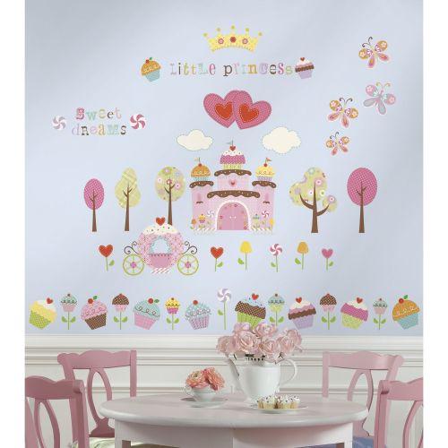 Vinilo Infantil Castillo de Cupcakes