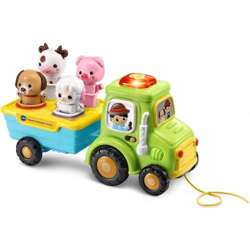 VTech Formas y Animales, tractor de arrastre , Juguete educacional a partir de 12 meses
