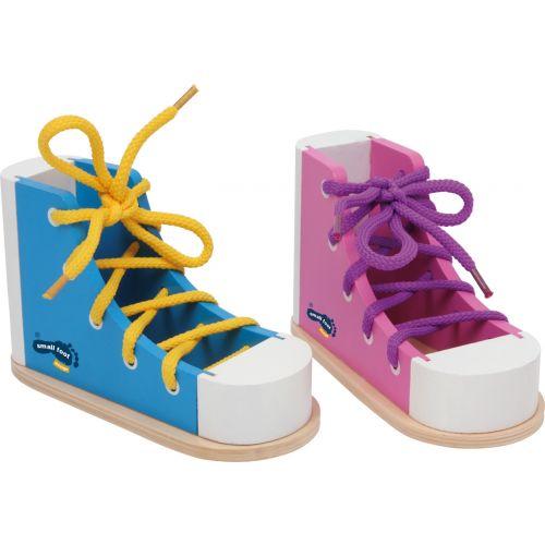 Zapatos Coloridos para aprender a hacerse la Lazada
