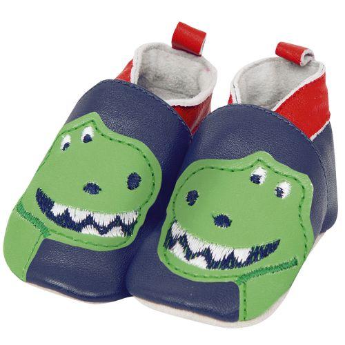 Zapatos de Piel para Bebé de Dinosaurio